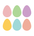 patterned eggs pastel vector image vector image
