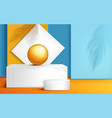 podium stage for product presentation with ball vector image vector image