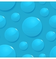 Rain drops on blue seamless background vector image
