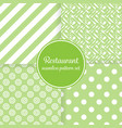 restaurant or bistro theme lush green stripes vector image
