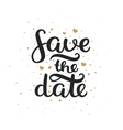 save date hand drawn lettering vector image