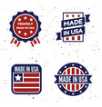 set made in usa logo labels and vector image vector image