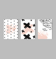 set of artistic creative universal cards vector image vector image