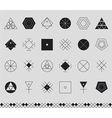 Set of geometric hipster shapes453441 vector image vector image