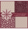 set of Wallpaper Christmas gift paper vector image vector image