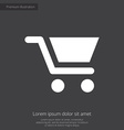 shopping cart premium icon white on dark backgroun vector image vector image