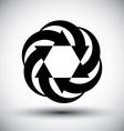 Six arrows loop conceptual icon abstract new idea vector image