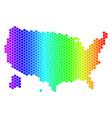 spectrum hexagon usa with alaska map vector image