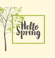 spring banner with tree and inscription vector image vector image