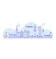 stockholm skyline sweden city buildings vector image vector image