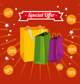 store sale bags to special promotion vector image vector image
