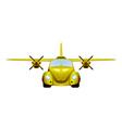 Taxi Retro flying car vector image vector image