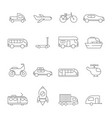 Transportation icon linear of