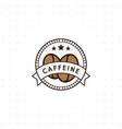 vintage coffee logo vector image