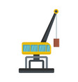 weight crane icon flat style vector image vector image