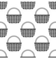 wicker basket icon seamless pattern vector image
