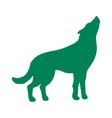 Wild wolf animal flat silhouette vector image