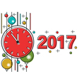 Christmas and New Year 2017 background vector image