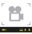 focus camera design vector image