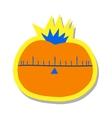 Cartoon tomato flat icon vector image