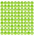 100 set green circle vector image vector image