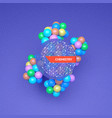 3d molecule structure futuristic technology style vector image vector image