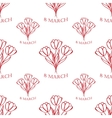 8 march seamless pattern sketch vector image