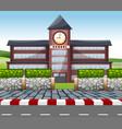a modern school building vector image vector image