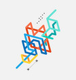 abstract colorful geometric isometric line art vector image vector image