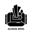 alcohol wipes icon black sign