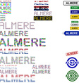 Almere text design set vector image vector image