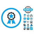 Award Flat Icon with Bonus vector image vector image