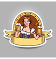 beer girl sticker