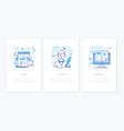 blogging online - line design style banners set vector image