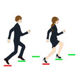 business people running to the top vector image vector image