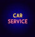 car service neon text vector image