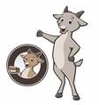 Cartoon Goat Coffee vector image vector image