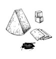 cheddar cheese drawing hand drawn food vector image