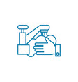cleaning of the room linear icon concept cleaning vector image