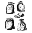 collection bags with coins vector image vector image