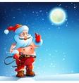 Costume BDSM Gag Santa Claus vector image vector image
