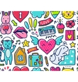 Doodle cute Pattern vector image