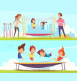 family attractions banners collection vector image vector image
