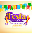 festa junina holiday poster design vector image vector image