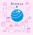 fitness ball on background vector image vector image