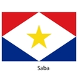 Flag of the country saba vector image vector image