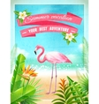 Flamingo Bird Exotic Summer Vacation Poster vector image