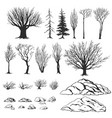 forest constructor ink hand drawn vector image vector image