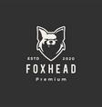 fox head hipster vintage logo icon vector image vector image