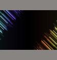 frequency bar overlap in dark background vector image vector image